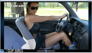 Irma - Revving And Car Ride In Mini Dress