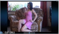 Chantal Video 1 - Smoking In Pink Dress And White Stockings