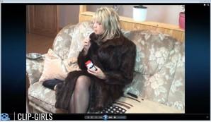 Jeanine Video 17 - Smoking In Fur Coat
