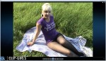 Janina Video 14 - Black Pantyhose And Bubble Gum