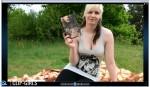 Janina Video 64 - Lecture In Black Leggings