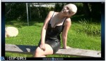 Janina Video 135 - Black Leather Dress And Tights