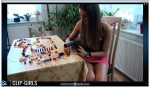 Ester Video 29 - Vacuuming Stupid Brothers LEGO Domino