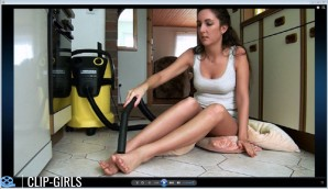 Annika Video 51 - Feet Vacuuming With Kaercher