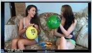 Ester & Vanessa Video 1 - Helium Balloon Fun