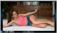 Annika Video 105 - Gymnastics In Jeans Shorts