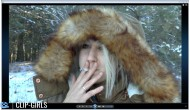 Vanessa Video 170 - Smoking In Snowy Woods 2
