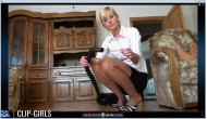 Jacqueline Video 92 - Vacuuming Balloon Shreds And My Legs In Tights