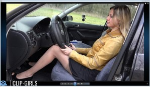 Svetlana Video 45 - Revving In Leather Jacket And Fishnet Stockings