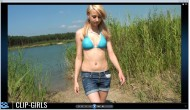 Vanessa Video 218 - In Sandals Through Water And Sand