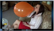 Janina Video 171 - Balloons And Bubble Gum