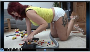 Michaela Video 62 - LEGO Vacuuming In Hot Pants
